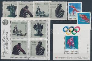 1992/1994 13 klf bélyeg + 3 klf blokk (2 db stecklapon)