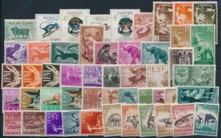 1950-1960's Animals 50 diff stamps, Állat motívum 50 klf bélyeg, közte néhány falcos az 1950-1960-as évekből