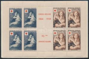 1954 Vöröskereszt bélyegfüzet Mi 1032-1033