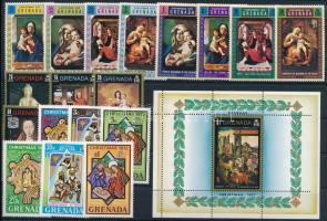 1970-1972 Karácsony motívum 18 klf bélyeg + blokk 1970-1972 Christmas 18 stamps + block