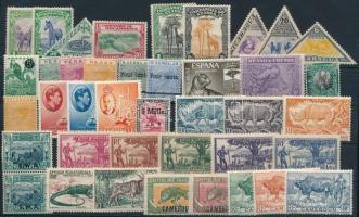 1950's Animals 40 diff stamps mostly hinged, Állat motívum 40 klf bélyeg az 1950-es évek előtti időszakból, többségében falcos