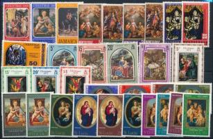 Jamaica, Montserrat, St. Lucia 1967-1971 Christmas 32 stamps, Jamaica, Montserrat, St. Lucia 1967-1971 Karácsony motívum 32 klf bélyeg