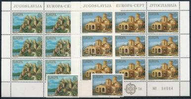 Europa CEPT Monuments set + mini sheet set, Europa CEPT: Műemlékek sor + kisívsor