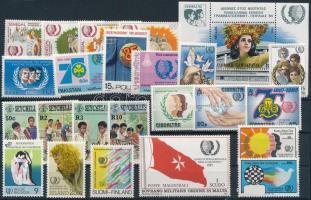 Year of Youth 23 stamps + 1 block, Ifjúság éve 23 klf bélyeg + 1 blokk