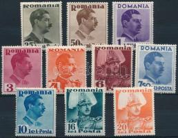 10 different stamps, II. Károly 10 klf érték