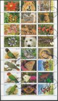 Teljes évfolyam a blokkok bélyegeivel együtt 1 teljes ívben Complete year (with the stamps of blocks) in 1 sheet