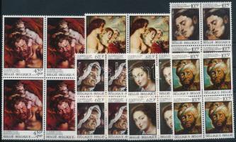 Rubens festmények sor 4-es tömbökben Rubens paintings set blocks of 4