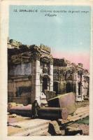 Baalbek, Baalbeck; Colonne monolithe de granit rouge d'Egypte / Red granite monolithic column of Egypt