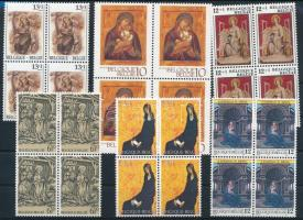 1981-1991 Madonna motívum 6 klf 4-es tömb 1981-1991 Madonna 6 blocks of 4