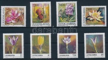 1989-1991 Flowers 2 sets, 1989-1991 Virágok 2 klf sor