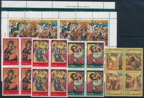 1978-1984 Madonna 5 blocks of 4 + mini sheet, 1978-1984 Madonna motívum 5 klf  4-es tömb + kisív
