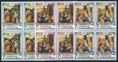 Christmas set in blocks of 4, Karácsony sor 4-es tömbökben