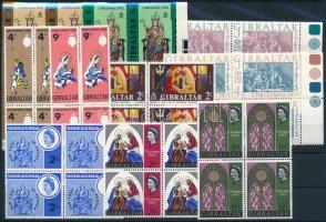 1966-1973 Madonna motívum 10 klf 4-es tömb 1966-1973 Madonna 10 blocks of 4