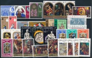 1966-1978 Madonna 32 stamps, 1966-1978 Madonna motívum 32 klf bélyeg, közte sorok