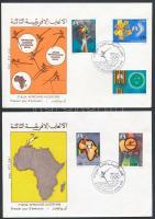 1978 Afrikai sportjátékok Mi 723-727 2 db FDC