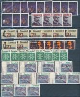 Kanada Kb. 88 db bélyeg postatiszta + 19 falcos, 2 berakólapon dossziéban