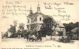 Kraków, Krakau; Kosciol sw. Floryana / church, shop of Jar. Pollak