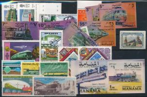 Locomotive 1961-1991 20 stamps + 1 set + 1 block, Mozdony motívum 1961-1991 20 klf önálló érték + 1 sor + 1 blokk