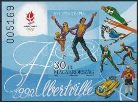1991 Téli olimpia (IX.) - Albertville vágott blokk (5.000)