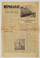 1956 A Népakarat, a Magyar Szabad Szakszervezetek Országos Szövetségének Lapja november 3-diki száma, a forradalom híreivel