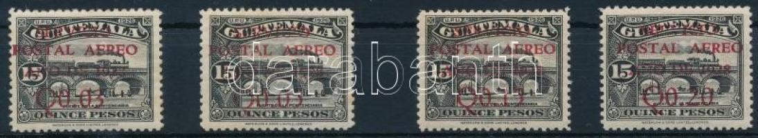 National symbols overprinted set 4 values (missing Mi 234), Nemzeti szimbólumok felülnyomott sor 4 értéke (hiányzik Mi 234)