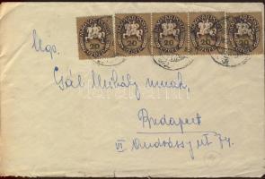 1946 Lovasfutár 12x20 ezerP + 11x160 ezerP távolsági levélen