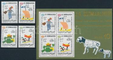 1979 Nemzetközi Gyermekév sor Mi 278-281 + blokk Mi 8