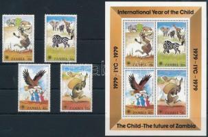 1979 Nemzetközi gyermekév sor Mi 205-208 + blokk Mi 5