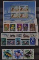 Európai állat és növény motívum gyűjtemény a korai kiadásoktól kb 1990-ig sok magasabb értékű sorral 14 db A/4 berakóban, országonként rendezve. Gondosan kezelt, nagy értékű anyag, érdemes megnézni! / Nice collection of European Flora and Fauna thematic stamps from the early issues to 1990 in 14 A/4 stockbooks (Mi EUR min 11.000.-)