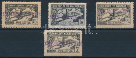 Csomagbélyeg 4 érték Parcel Stamp 4 values