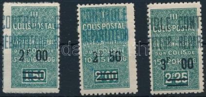 1937-1938 Csomagbélyeg sor 1937-1938 Parcel Stamp set