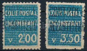 1935-1938 Csomagbélyeg 2 érték 1935-1938 Parcel Stamp