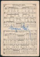 Murgács Kálmán (1893-1966) költő. nótaszerző 2 db kottás képeslap a dalszerző saját kezű aláírásával