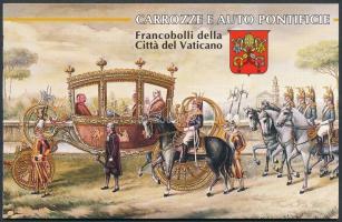 Pápai hintók és autók bélyegfüzet Papal carriers and cars stamp-booklet