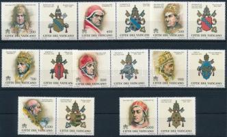 Pápák szelvényes sor Popes set with coupon