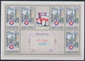 Czech Republic mini sheet, 80 éves a Cseh Köztársaság kisív