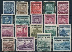 Böhmen und Mahren Definitive set with overprint, Böhmen und Mahren Forgalmi sor felülnyomással