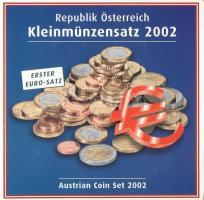 Ausztria 2002. 1c-2E (8x) forgalmi sor karton dísztokban T:1 Austria 2002. 1 Cent - 2 Euros (8x) coin set in cardboard case C:UNC