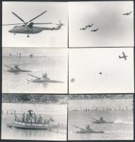 1969 Viziparádé a Dunán augusztus 20-án 6 db fotó 9x12 cm