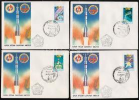 Mongol-szovjet közös űrrepülés 7 db FDC Mongol-Soviet joint space flight 7 FDC