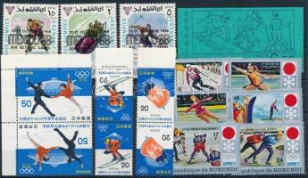 1968-1974 Olimpia 17 klf bélyeg köztük több összefüggés + 1 bélyegfüzet 1968-1974 Olympics 17 stamps + 1 stamp-booklet