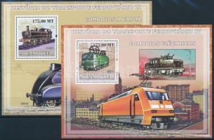 Trains mini sheet set+ blockset Vonat kisívsor + blokksor