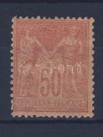 1886 Mi 81II (felül rövid fog / short perf. above)