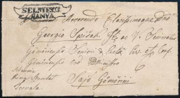 1842 Levél / Cover SELMETZ/BÁNYA - Sajó Gömöri