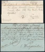 1844-1849 3 db levél klf SÜMEGH bélyegzésekkel, közte piros színű is / 3 covers with different SÜMEGH cancellations