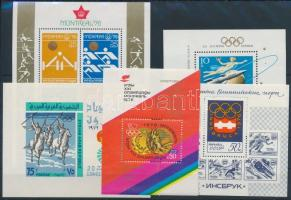 1964-1976 Olimpia 5 klf blokk 1964-1976 Olympics