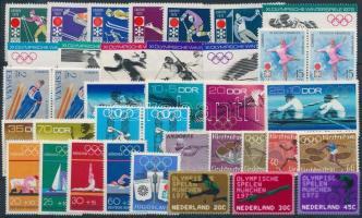 1971-1972 Olimpia 7 klf sor + 3 pár + 1 önálló érték 1971-1972 Olympics 7 sets + 3 pairs + 1 stamp