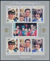 Károly herceg és Lady Diana blokk Prince Charles and Lady Diana block
