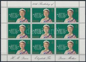 Erzsébet királynő 80. születésnapja kisív Queen Elisabeth minisheet