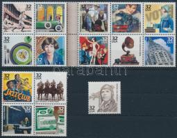 USA a 20. században (III)  blokkból kitépett bélyegek USA in the 20th century (III) stamps from blocks